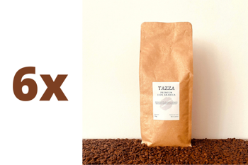 Zestaw: 6x TAZZA - PREMIUM 100% arabica - kawa ziarnista 1kg